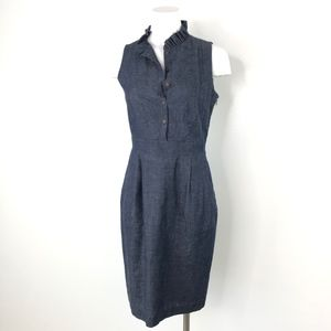 CREMIEUX | Denim Chambray Sheath Dress